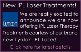 Brand New IPL Laser Therapy Treatments Available Today!